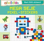 alvildas mega seje pixel-stickers  - sæt á 3 stk. Pris pr. stk 69,95