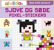 alvildas sjove og søde pixel-stickers  - sæt á 3 stk. Pris pr. stk. 69,95