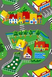 associated weavers - legetæppe byen, 100x165cm - Køretøjer Og Fly
