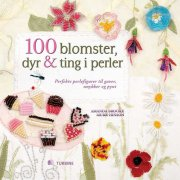 100 blomster, dyr & ting i perler - bog