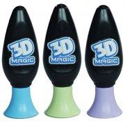 3d magic - 3d magic 3 pack purple/blue/glow in the dark - Kreativitet