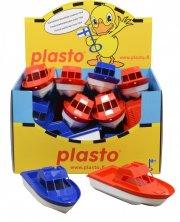 plastik båd - 22 cm - blå / rød - Bade Og Strandlegetøj