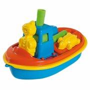 båd med si / rive / skovl / 2 forme - 31 cm - Udendørs Leg