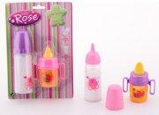 dukketilbehør - sutteflaske og kop - baby rose - Dukker