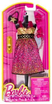 barbie kjole - guld/pink - Dukker