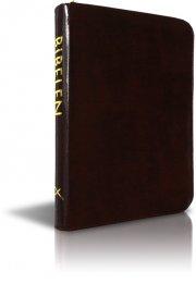 bibelen på hverdagsdansk, sort m/ lynlås - bog