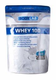 bodylab jordbær proteinpulver - whey 100 - 1kg - Kosttilskud