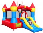 bouncy castle hoppeborg - slot hoppepude med rutchebane - Udendørs Leg