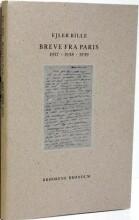 breve fra paris 1937-1938-1939 - bog