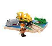 brio safari jernbaneoverskæring / safarikryds - Køretøjer Og Fly
