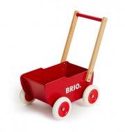 brio dukkevogn i træ - rød - Dukker