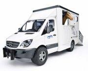 bruder - mercedes benz sprinter hestetransport med 1 hest - Køretøjer Og Fly