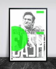 buus works plakat - johnny cash 50x70cm - Til Boligen