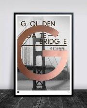 buus works plakat - golden gate bridge 50x70cm - Til Boligen