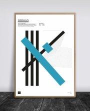 buus works plakat - københavn blå 50x70cm - Til Boligen