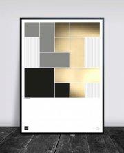buus works plakat - squarelines 50x70cm - Til Boligen