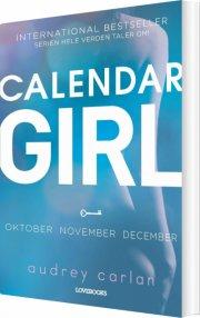 calendar girl 4: oktober-november-december - bog