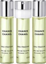 chanel edt - chance eau fraiche - 3 x 20 ml. - Parfume