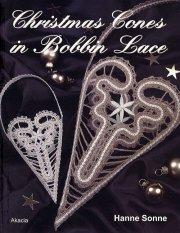 christmas cones in bobbin lace - bog