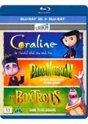 coraline / paranorman / the boxtrolls - 3d+2d - Blu-Ray