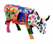 cow parade ko - a la mootise - mellem - 13 x 8,5 cm - Til Boligen