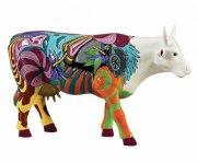 cow parade ko - cerrado arte de cara limpa - large - 30,5x19,5cm - Til Boligen