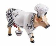 cow parade ko - chef cow / kokke ko - mellem 15,5 x 10cm - Til Boligen