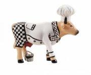 cow parade ko - chef cow / kokke ko - lille - 7 x 6cm - Til Boligen