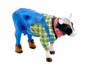 cow parade ko - farmer cow - mini - 6,5x4,5cm - Til Boligen