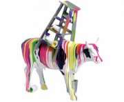 cow parade ko - muuu traviesa - stor - 31x31,5cm - Til Boligen