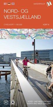 cykelkortserie danmark 6: nord- og vestsjælland - bog
