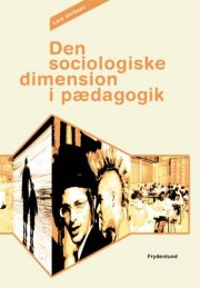 den sociologiske dimension i pædagogik - bog