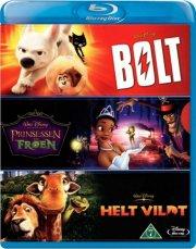 disney klassikere - bolt / helt vildt / prinsessen og frøen - disney - Blu-Ray