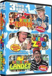 dyrene i cirkus /dyrene i zoo / dyrene på landet - DVD