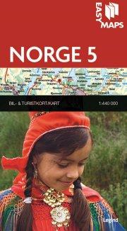 easy maps - norge delkort 5 - bog