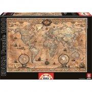 educa puslespil med 1000 brikker - verdenskort puslespil - Brætspil