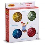 edushape sansebold / motorikbold - 4 stk sensory see me balls - Babylegetøj
