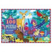 puslespil med 100 brikker - dyr - eeboo - Brætspil