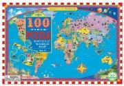 verdenskort puslespil med 100 brikker - eeboo - Brætspil