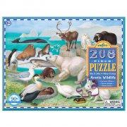 puslespil til børn - eeboo - arktisk - 208 brikker - Brætspil