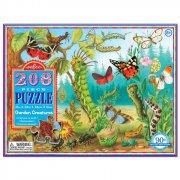 puslespil til børn - eeboo - haven - 208 brikker - Brætspil