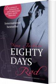 eighty days - rød - bog