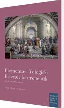 elementær filologisk-litterær hermeneutik - bog