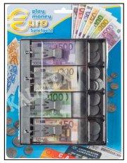 euro legepenge med pengebakke til kasseapperat - Rolleleg