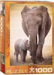 puslespil - eurographics - elefanter - 1000 brikker - Brætspil