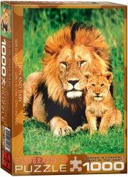 puslespil - eurographics - løver - 1000 brikker - Brætspil