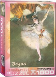 eurographics puslespil med 1000 brikker - ballerina - edgar degas - Brætspil