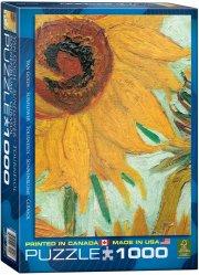 eurographics puslespil 1000 brikker - vincent van gogh - sunflowers - Brætspil