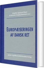 europæiseringen af dansk ret - bog