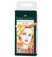faber castell artist pen brush - hudfarver - 6 stk - Kreativitet